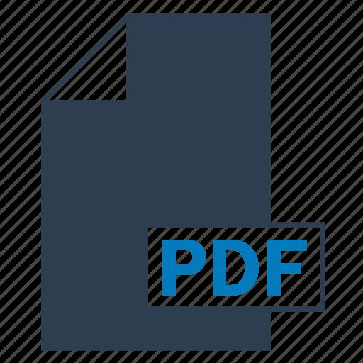blue, file, format, pdf icon