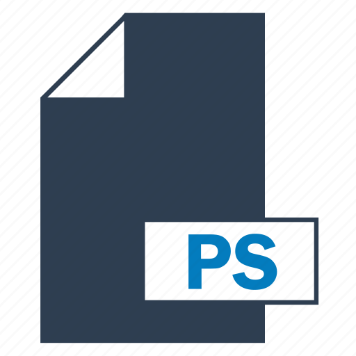 blue, file, format, ps icon