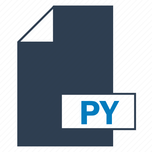blue, file, format, py icon