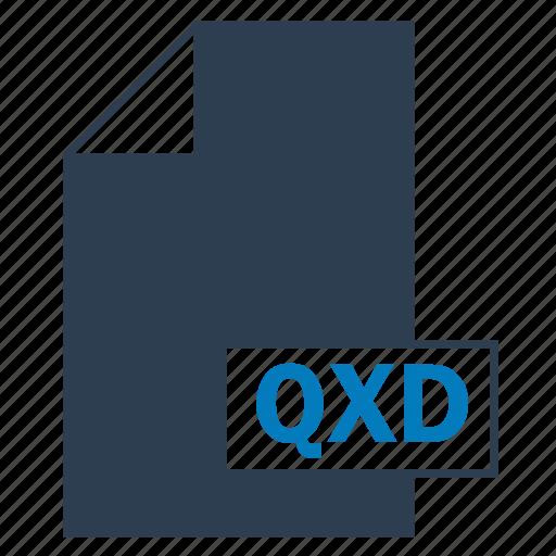 blue, file, format, qxd icon