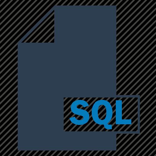blue, file, format, sql icon