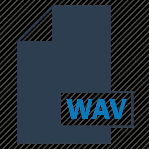 blue, file, format, wav icon