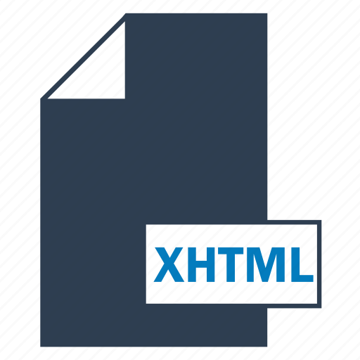 blue, file, format, web, xhtml icon