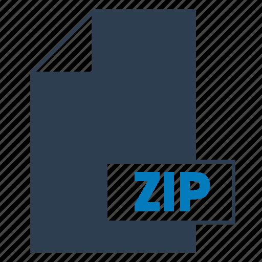 blue, file, format, zip, zip file icon