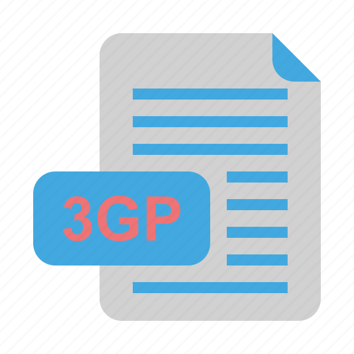 3gp, file, file format, format, video icon