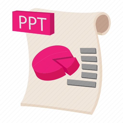 cartoon, document, file, format, ppt, sign, type icon