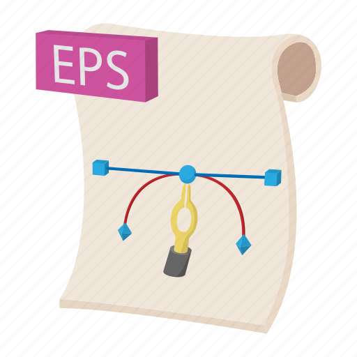 cartoon, document, eps, file, format, sign, type icon
