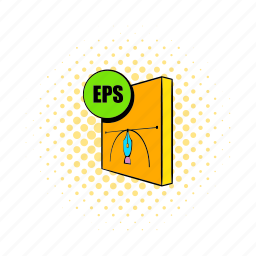 comics, document, encapsulated, eps, file, format, postscript icon