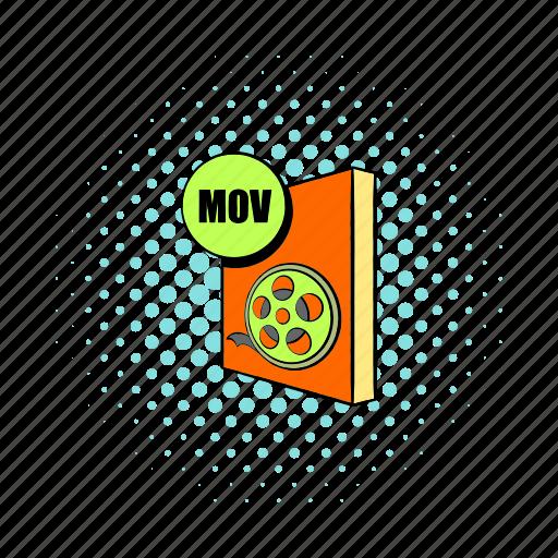 audio, comics, document, file, format, mov, video icon