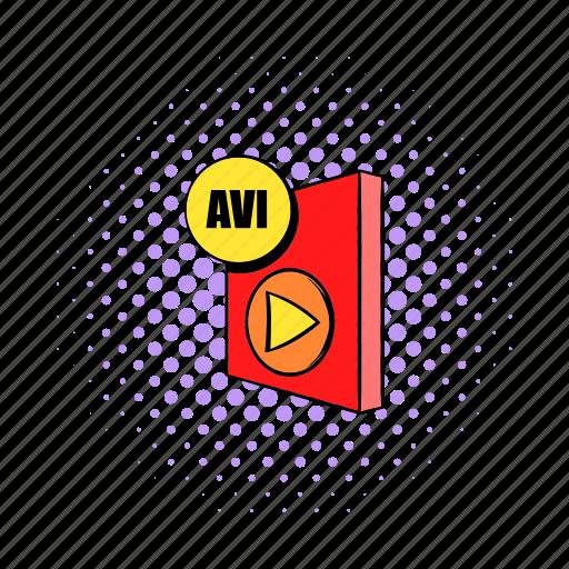 audio, avi, comics, document, file, interleave, video icon