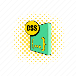 cascading, comics, css, document, file, format, sheets icon