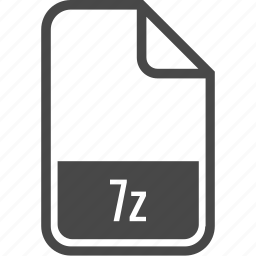 .7z, document, file, format, type icon