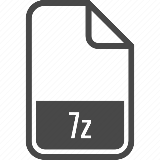 File, format, type, .7z, document icon - Download on Iconfinder