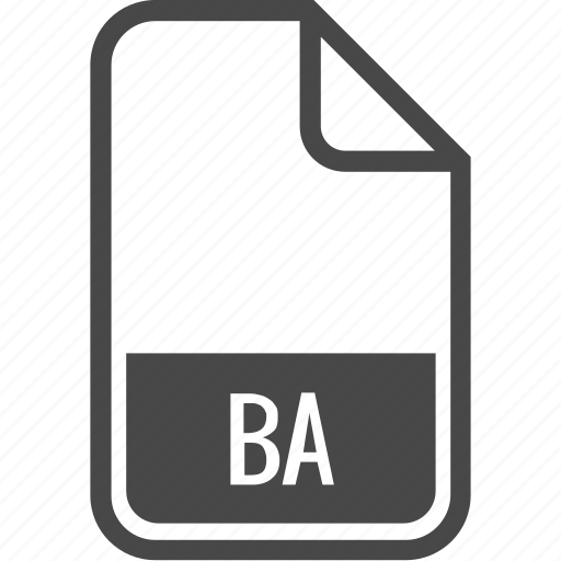 ba, document, file, format, type icon
