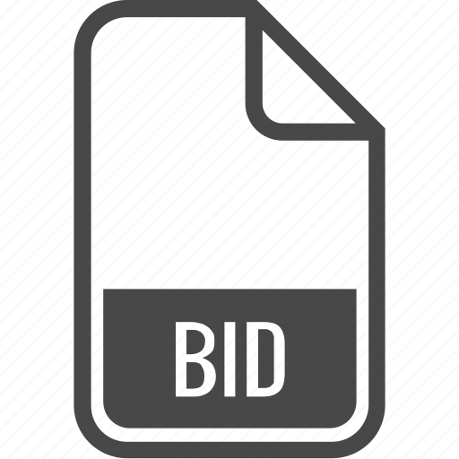 bid, document, file, format, type icon