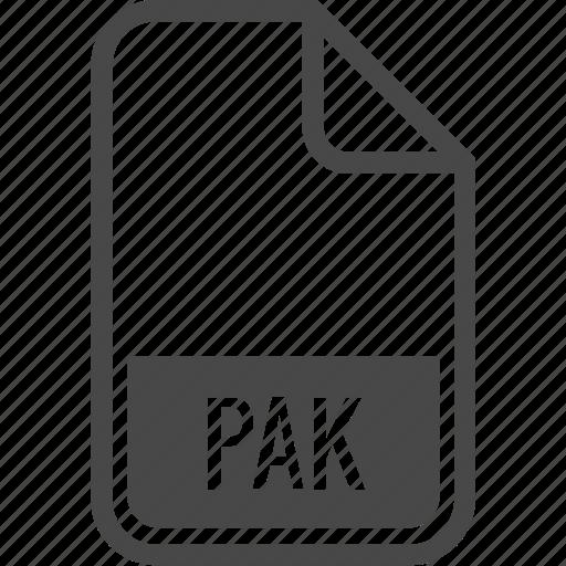 document, file, format, pak, type icon