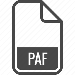 document, file, format, paf, type icon