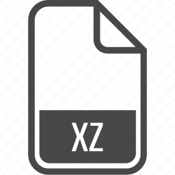 document, file, format, type, xz icon