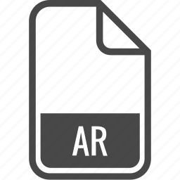 ar, document, file, format, type icon