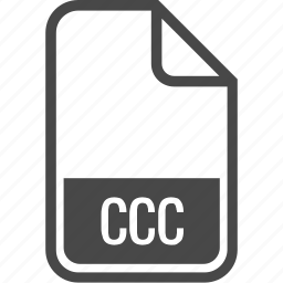 ccc, document, file, format, type icon