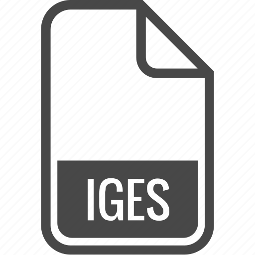 document, file, format, iges, type icon