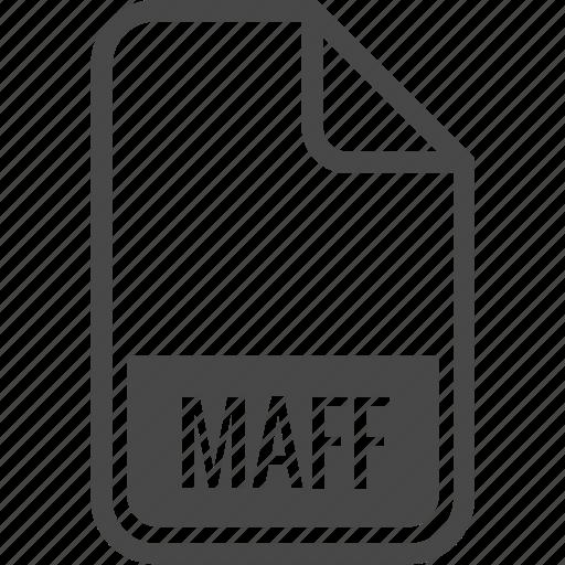 document, file, format, maff, type icon