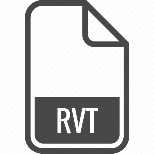 document, file, format, rvt, type icon