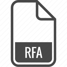 document, file, format, rfa, type icon