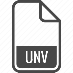 document, file, format, type, unv icon