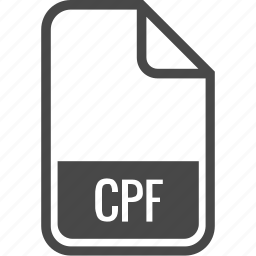 cpf, document, file, format, type icon