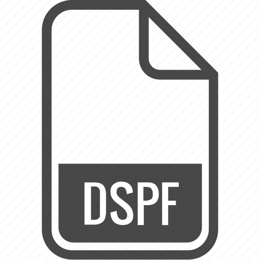 document, dspf, file, format, type icon