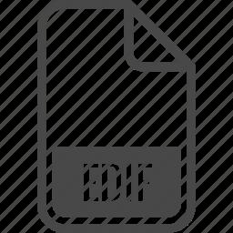 document, edif, file, format, type icon