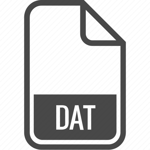 dat, document, file, format, type icon