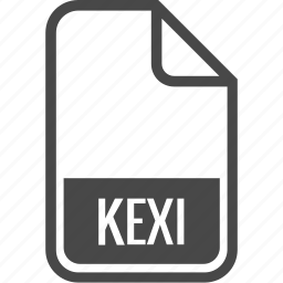 document, file, format, kexi, type icon