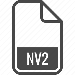 document, file, format, nv2, type icon