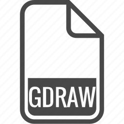 document, file, format, gdraw, type icon