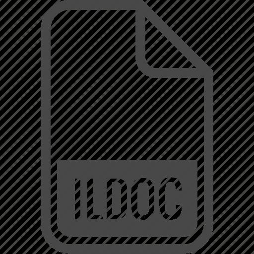 document, file, format, ildoc, type icon