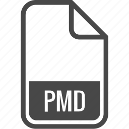 document, file, format, pmd, type icon