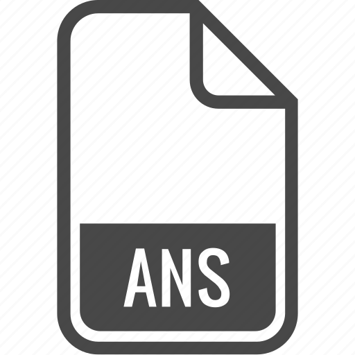 ans, document, file, format, type icon