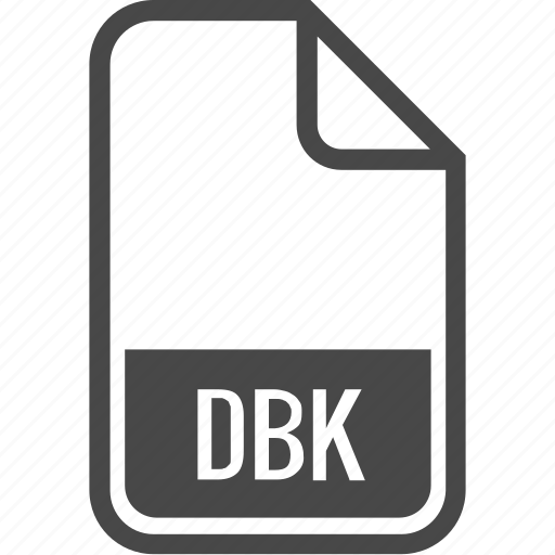 dbk, document, file, format, type icon