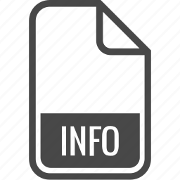 document, file, format, info, type icon