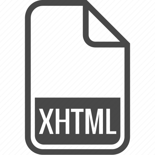 document, file, format, type, xhtml icon
