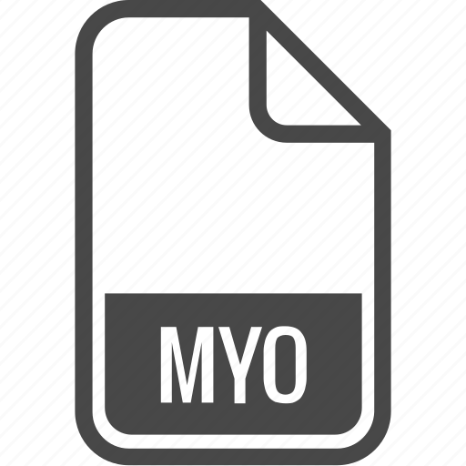 document, file, format, myo, type icon
