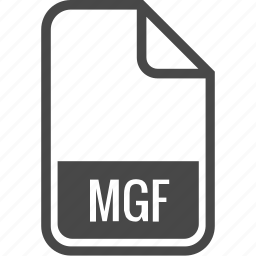 document, file, format, mgf, type icon