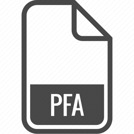 document, file, format, pfa, type icon