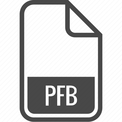 document, file, format, pfb, type icon