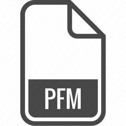 document, file, format, pfm, type icon