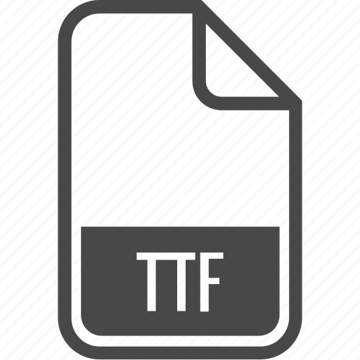document, file, format, ttf, type icon