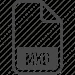 document, file, format, mxd, type icon