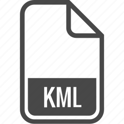 document, file, format, kml, type icon